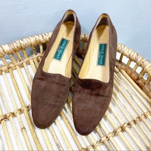 Cole Haan brown suede slip on loafer